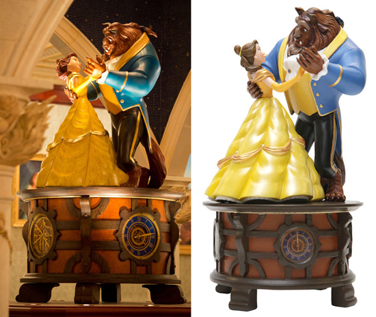 Figurine Replica of the 'Beauty and the Beast' Music Box in Be Our Guest Restaurant