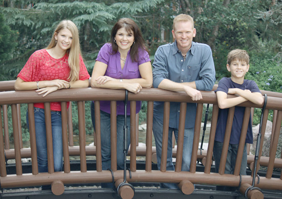 Christopher Stewart, 2004 Walt Disney World Ambassador, with His Family