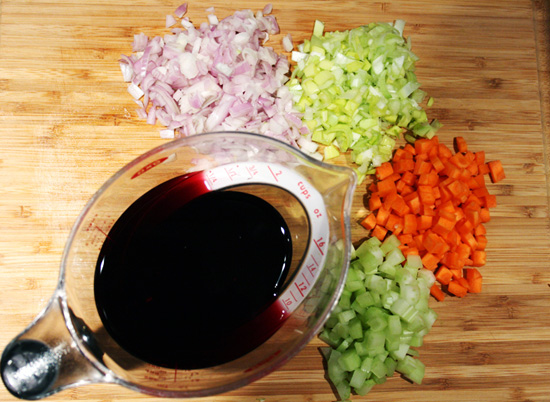 Red Wine Sauce Ingredients - Recipe for Disney Cruise Line's Osso Bucco