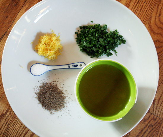 Gremolata Ingredients - Recipe for Disney Cruise Line's Osso Bucco