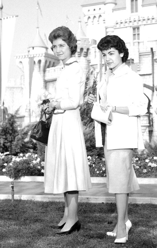 Annette Funicello with Princess Sophia from Greece at Disneyland Park