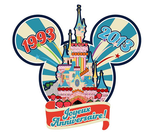 Disneyland Paris Joyeux Anniversaire Pin