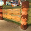Beaver's Chewing On Wood And Other Playful Animals Fill the Sky Inside Island Mercantile at Disney's Animal Kingdom Theme Park