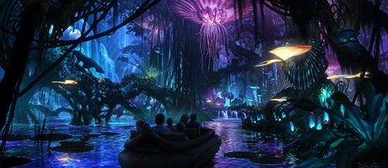 Artist Rendering of AVATAR-Themed Land at Night, Coming to Disney's Animal Kingdom at Walt Disney World Resort