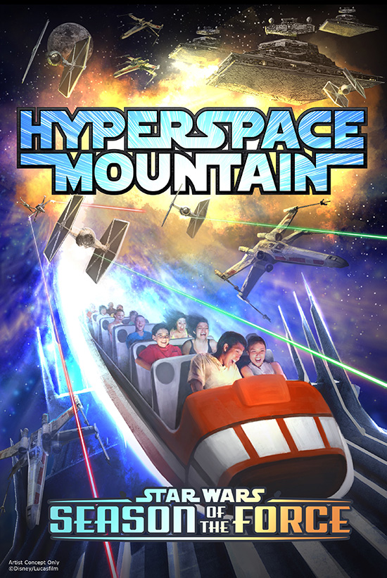 Hyperspace Mountain Coming for Season of the Force at Disneyland Park