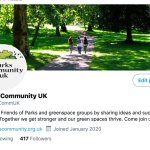 Parks Community UK is now on Twitter, please follow us on @ParksCommUK