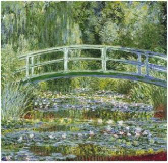 Claude Monet, Water Lilies and Japanese Bridge