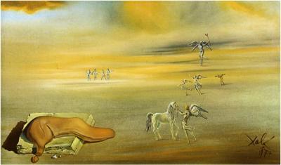Salvador Dalí, Monstruo blando en un paisaje angélico, 1977. Musei Vaticani, Ciudad del Vaticano.