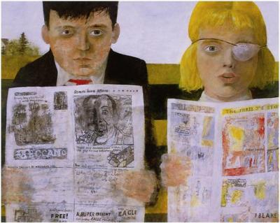 Sir Peter Blake, Children Reading Comics, 1954. Oil on hardboard, 36.9 x 47.1 cm. Tullie House Museum and Art Gallery, Carlisle (Cumbria).