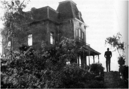 The Bates House in Psycho, directed by Alfred Hitchcock