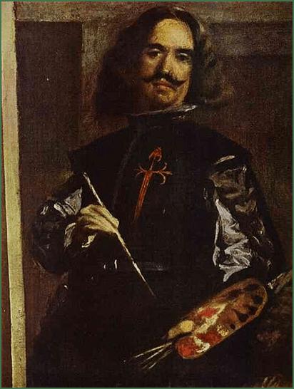 Velázquez, Autorretrato (detalle de Las Meninas), 1656