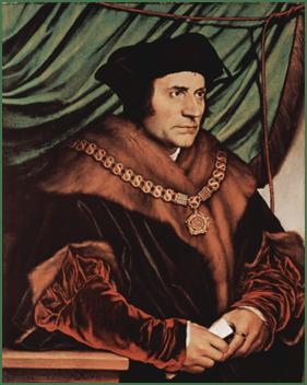 Hans Holbein der Jüngere, Porträt von Thomas Morus,  1527, Eichenholz, 74,2 x 59 cm.