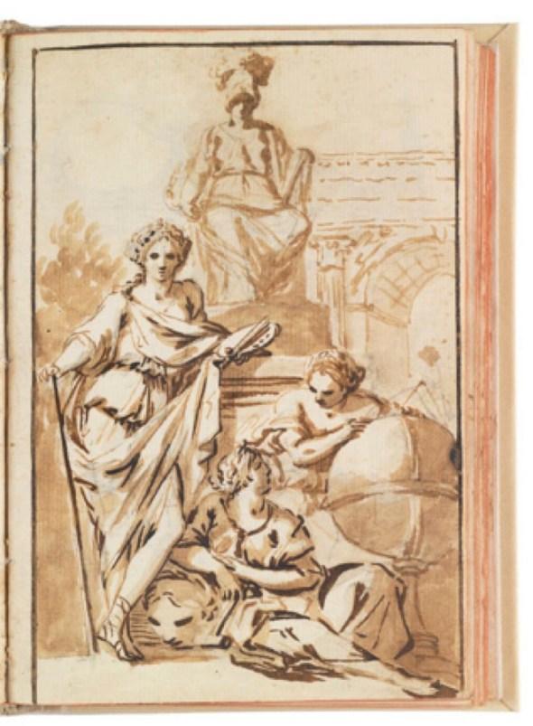 José del Castillo, Alegoría de las Artes, Cuaderno italiano I, p. 3, 1762. Museo Nacional del Prado, Madrid.