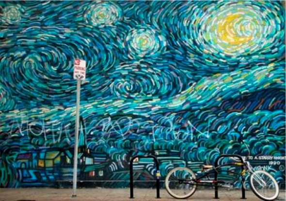 (Homage to Starry Night, found at 1531 Ocean Front Walk, Venice Beach)