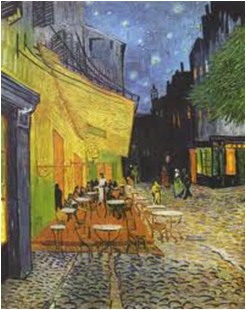 Vincent van Gogh, Café Terrace at Night, 1888. Oil on canvas, 80.7 x 65.3 cm. Kröller-Müller Museum, Otterlo.