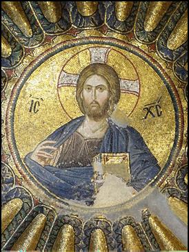 Pantokrator-Mosaik in der Chora-Kirche in Konstantinopel