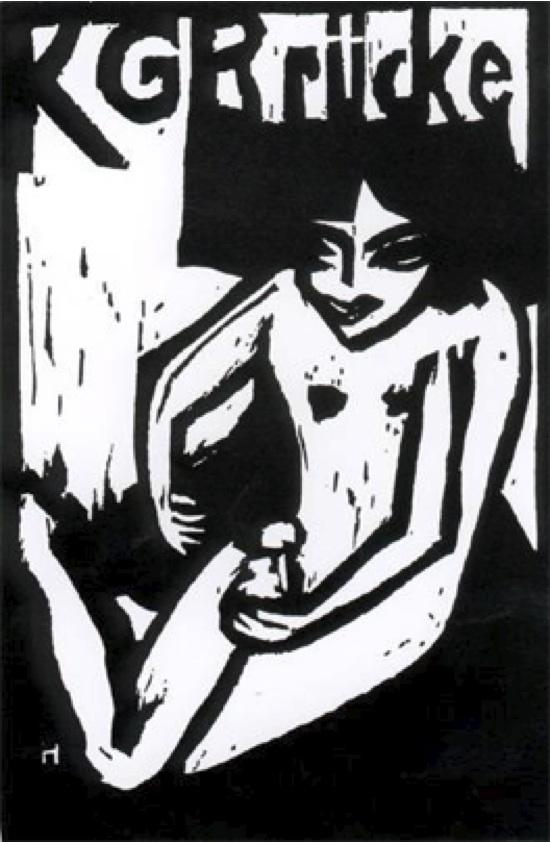 Erich Heckel, K.G. Brücke, 1910, Affiche publicitaire.