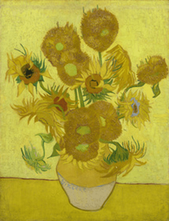 Sunflowers, 1889. Oil on Canvas, 95 x 73 cm. Van Gogh Museum, Amsterdam. Source: http://www.vangoghmuseum.nl/vgm/index.jsp?lang=nl