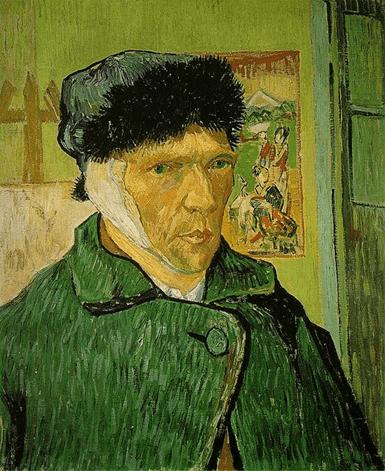Vincent van Gogh, Autoritratto con orecchio bandato, gennaio 1889. Olio su tela, 60 x 49 cm. The Courtauld Gallery, Londra.