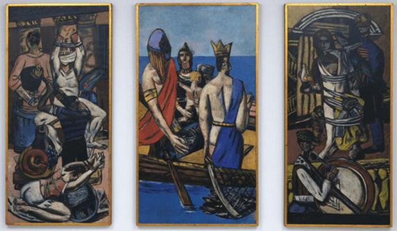El visitante a la Neue Gallerie podrá comparar el kitsch pre-posmoderno de Ziegler con el duro trazo, éste sí germánico, de Max Beckmann.