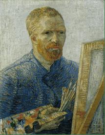 Vincent Van Gogh, Autoritratto come artista, 1887-88. Olio su tela, 65 x 50.5 cm. Van Gogh Museum, Amsterdam.