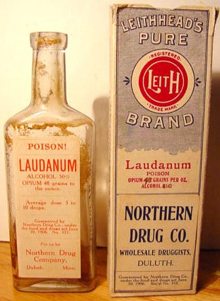 "A bottle of ""laudanum"""
