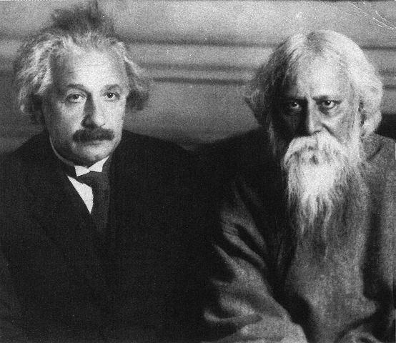 Einstein und Tagore in Berlin, 14. Juli 1930.