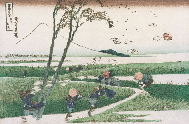 Katsushika Hokusai, Ejiri in Suruga Province (Shunshu Ejiri), from the series Thirty Six Views of Mount Fuji (Fugaku Sanjurokkei), 1830-1832.
