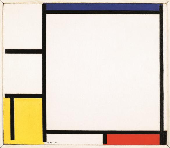 Composition avec bleu, jaune, rouge et noir, 1922. Huile sur toile, 41,9 x 48,9 cm. Minneapolis Institute of Arts, Minneapolis.