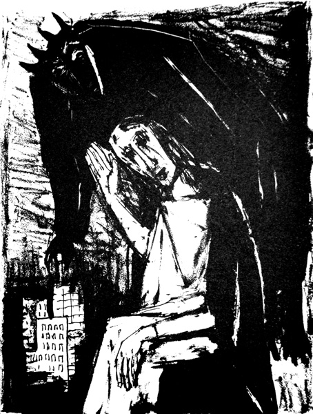 Otto Dix, The Temptation of Christ, 1960: Lithograph, 29 x 23 cm.
