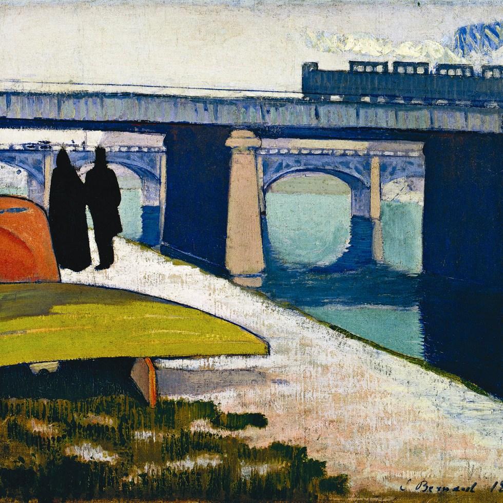 Émile Bernard, Eisen-Brücken von Asnières, 1887. Öl auf Leinwand, 45,9 x 54,2 cm. The Museum of Modern Art, New York.