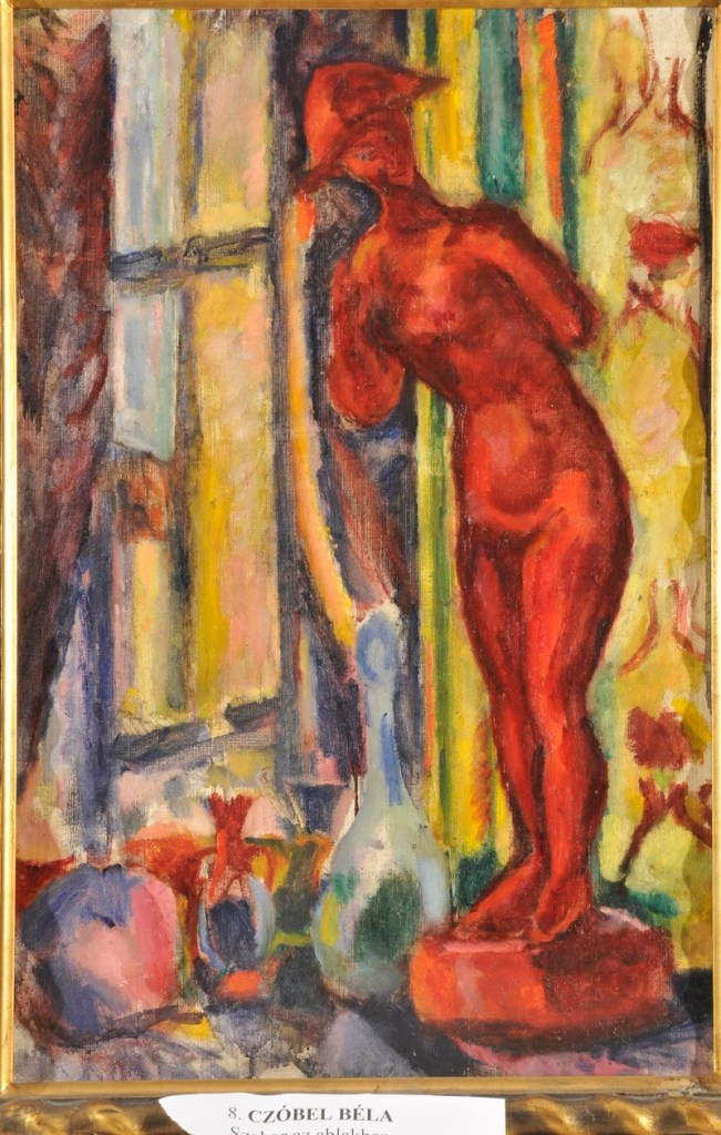 """This 1909 painting, Béla Czóbel's """"Red Nude Sculpture II,"""" was recently turned in to a gallery in Budapest.  (Photo: Courtesy of Gergely Barki)"""