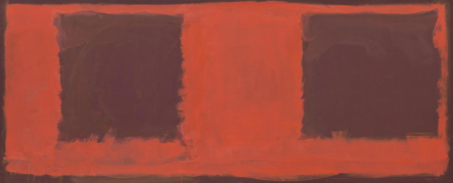 Mark Rothko, Untitled (Seagram Mural Sketch), 1959, oil and mixed media on canvas, National Gallery of Art, Washington, gift of The Mark Rothko Foundation, Inc. © 1998 by Kate Rothko Prizel and Christopher Rothko