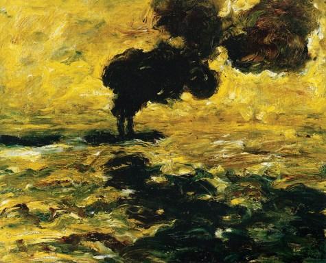 Schlepper auf der Elbe, 1910. Öl auf Leinwand, 71 x 89 cm. Hamburger Kunsthalle, Hamburg.