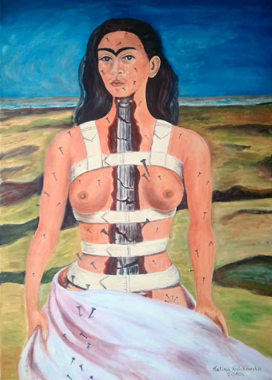 The Broken Column (1944) Frida Kahlo, 50x70 cm