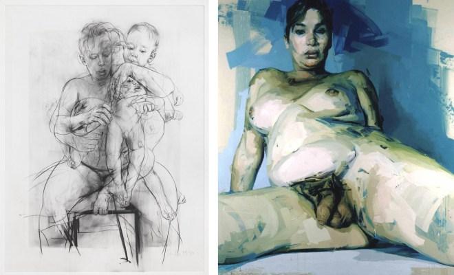 Jenny Saville, Reproduction drawing III (after the Leonardo cartoon), 2009-2010.