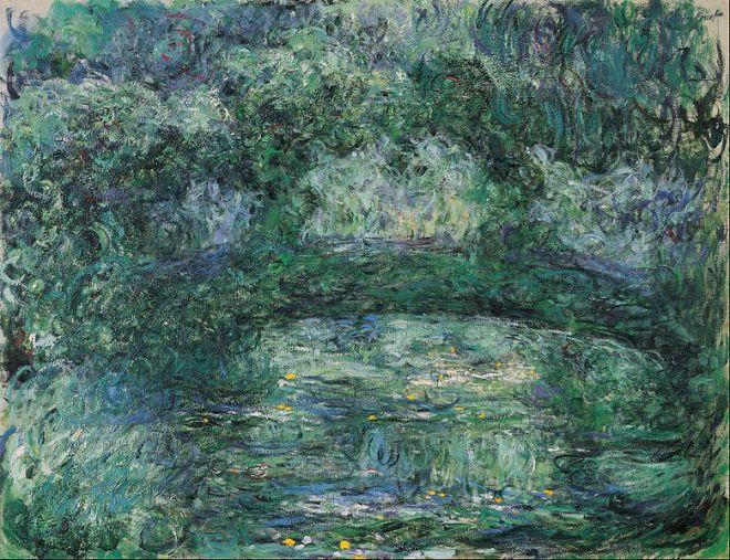 Claude Monet, Le Pont Japonais, vers 1918-1924. Huile sur toile, 89 x 115,5 cm. Fondation Beyeler, Bâle.
