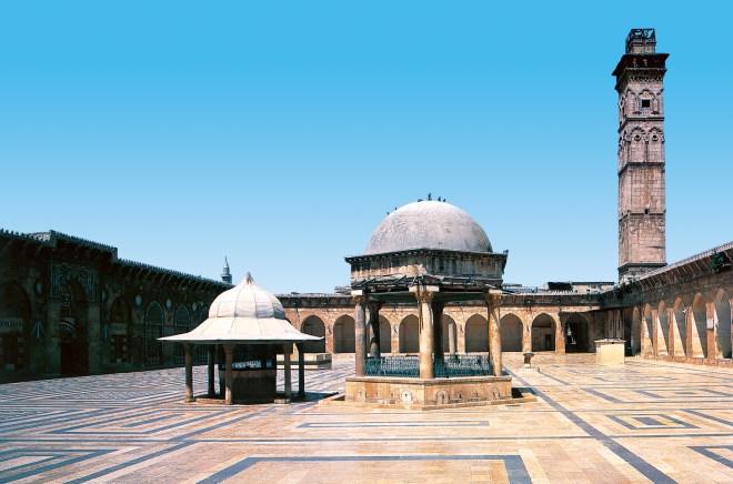 Die große Moschee von Aleppo, Anfang des 8. Jahrhunderts. Aleppo.