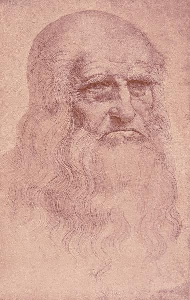 Leonardo da Vinci, Selbstporträt, um 1512. Zeichnung, 33,3 x 21,3 cm. Biblioteca Reale, Turin.