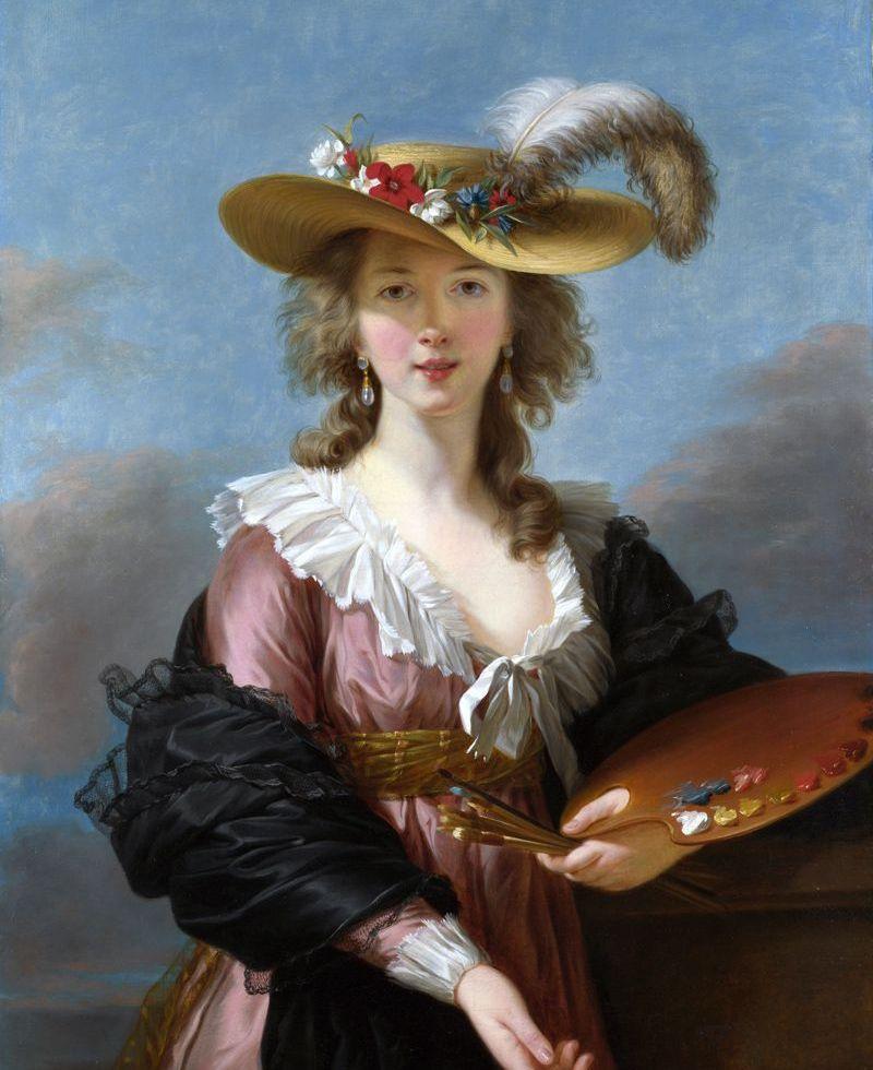 Autoportrait au chapeau de paille, 1782. Huile sur toile, 97,8 x 70,5 cm. National Gallery, Londres.