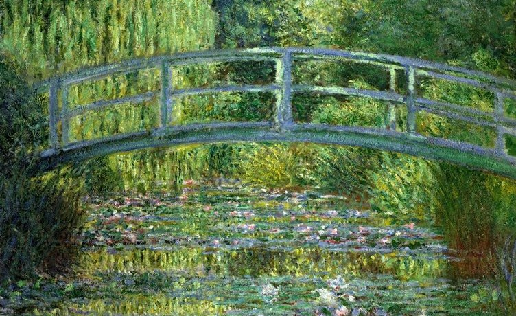 Claude Monet, Le Bassin aux nymphéas, 1899. Huile sur toile, 88,3 x 93,1 cm. Musée d'Orsay, Paris.