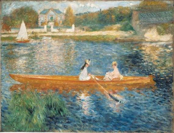 Pierre-Auguste Renoir, La Yole, 1875. Huile sur toile, 71 x 92 cm. The National Gallery, Londres.