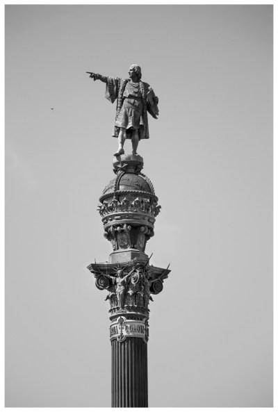 Monument de soixante mètres de haut connu sous le nom de « Monumento a Colón» dessiné par Gaietà Buigas i Monrava pour l'Exposition universelle de 1888 (©jmg)
