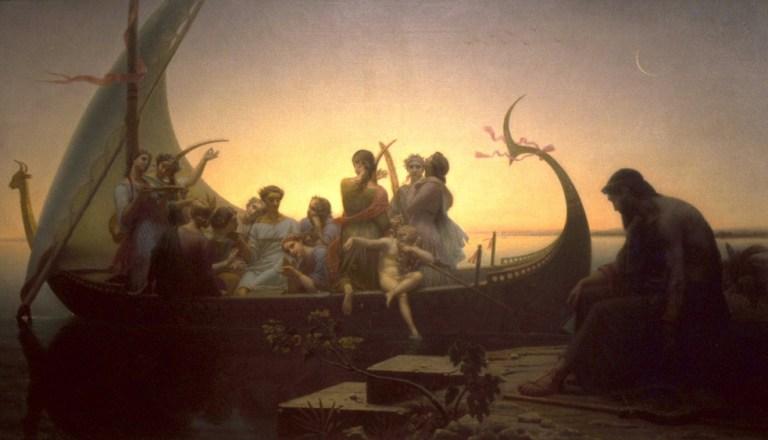 Le Soir ou Les Illusions perdues 1848. Huile sur toile, 156×238 cm. Musée du Louvre, Paris.