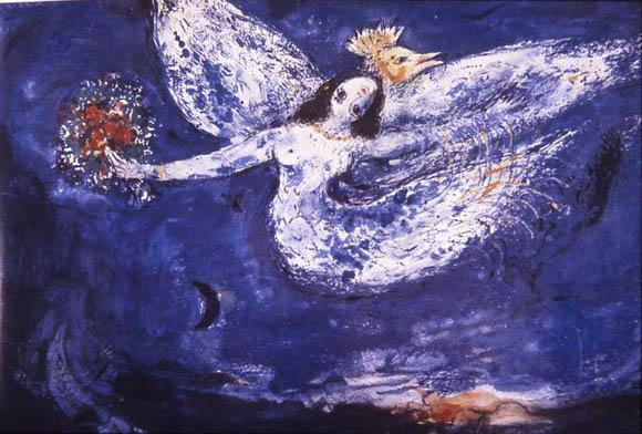 Marc Chagall, Study for 'The Firebird' Ballet Curtain, 1945. New York City Ballet