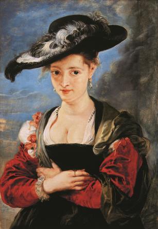《苏珊娜•卢登的画像》(Portrait of Susanna Lunden),约1622-1625年。木板油画,79X54.6cm。国家美术馆,伦敦。