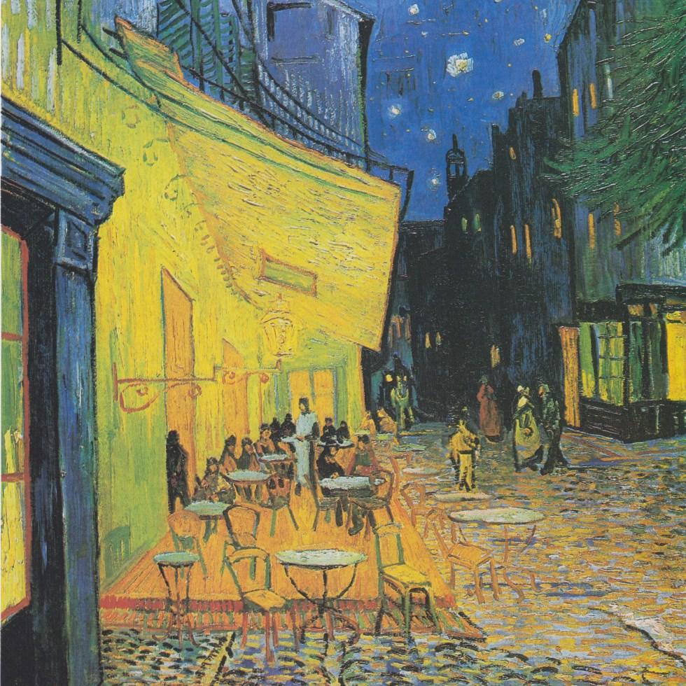 梵高,《夜间咖啡馆》,1888年,帆布油画,80.7 x 65.3 cm,库勒慕勒美术馆,奥特罗