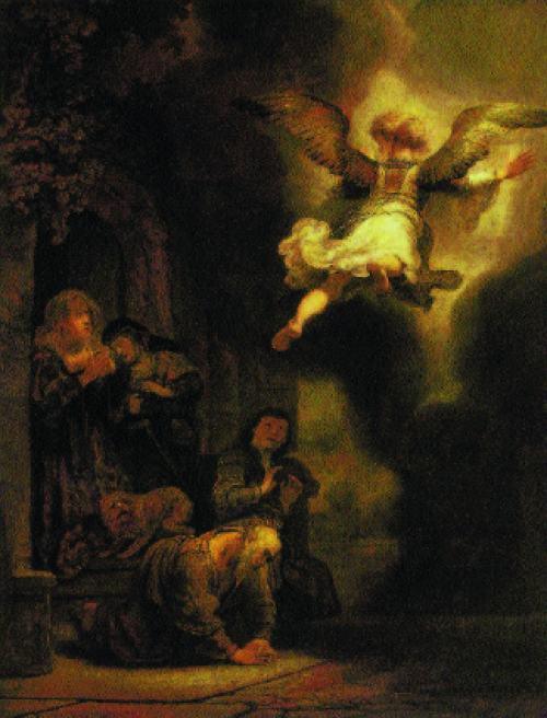 Der Erzengel Raphael verlässt die Familie des Tobias