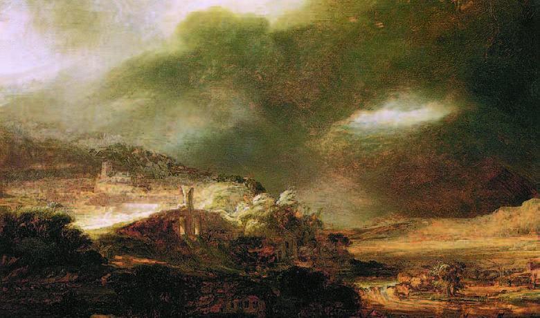 Paysage d'orage