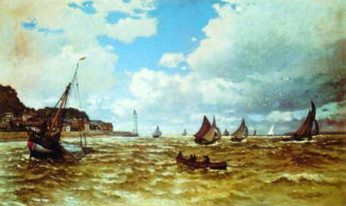 Claude-monet-The-Mouth-of-the-Seine-at-Honfleur